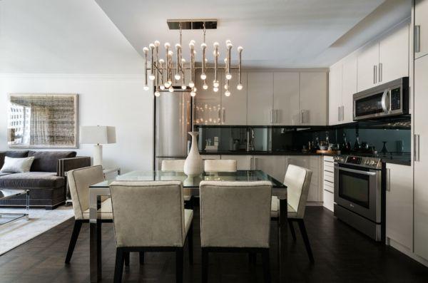 Der Kronleuchter strahlt funkelndes Licht aus-Kronleuchter Kristall Wohnzimmer Esszimmer Küche Designer üppig
