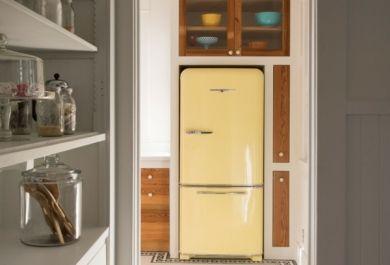 Küche Mit Retro Kühlschrank : Freistehenden kühlschrank in küche integrieren ᐅ side by side