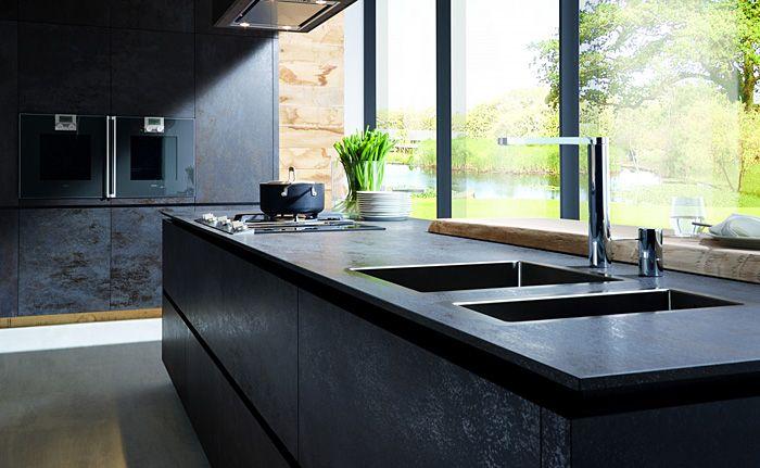 Die Küche in Schwarz sollte auf keinen Fall düster aussehen-Tendenzen Küchentrends Design Küchenmöbel Küche in Schwarz