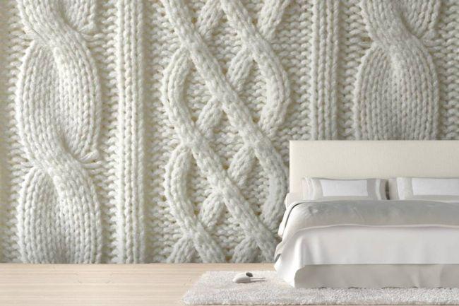 Die Strickoptikals Tappete für das Schlafzimmer-moderne-deko-wand-tapete
