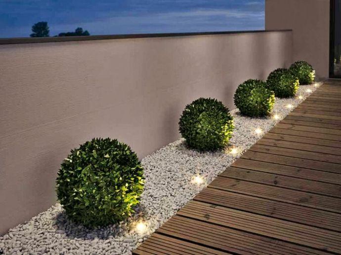 Einbaustrahler Sträucher Steinbeschichtigung Holzpfad-Designer Garten Leuchten