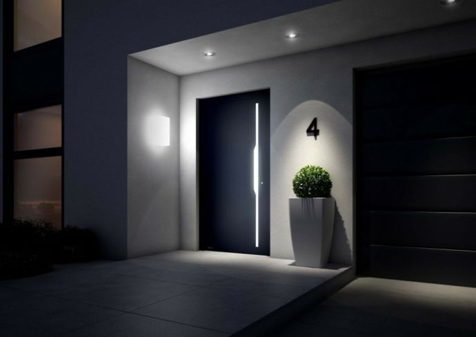 Einbaustrahler Wandleuchte Eingangsbereich Pflanzkübel modern-Designer Leuchten