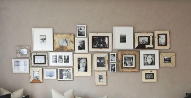 Eine ganze Wand voll mit Bilderrahmen-Schöne Deko-Ideen