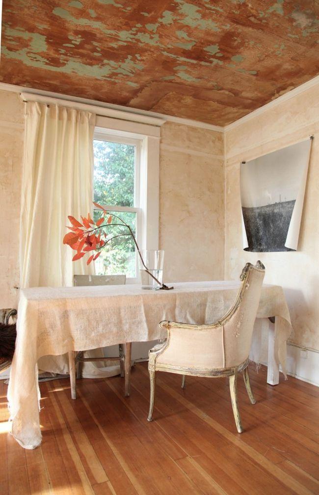 Eklektisches Esszimer mit Vintage Elementen-Eklektische Wohnung Vintage rustikal