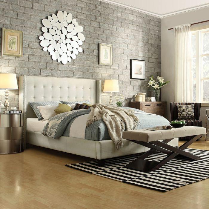 Elegantes Plattform Bett mit gestepptem Kopfteil-Schlafzimmer Luxusbetten