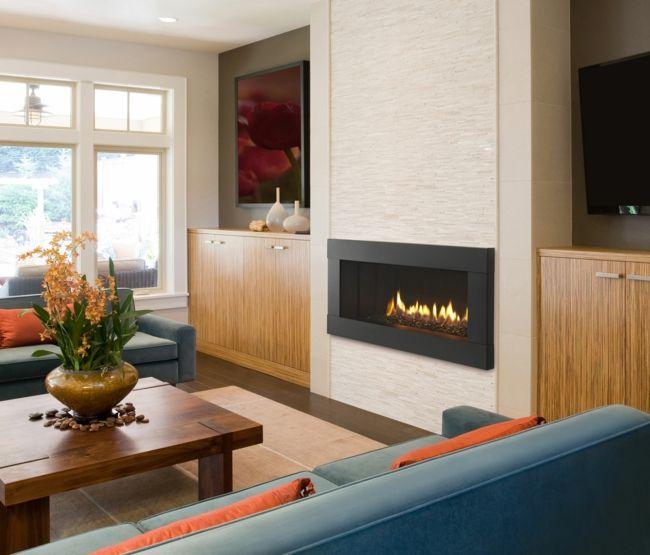 Elektrischer Kamin für Wärme und Gemütlichkeit-Feng Shui fürs Wohnzimmer Einrichtung Tipps Farben Kombination