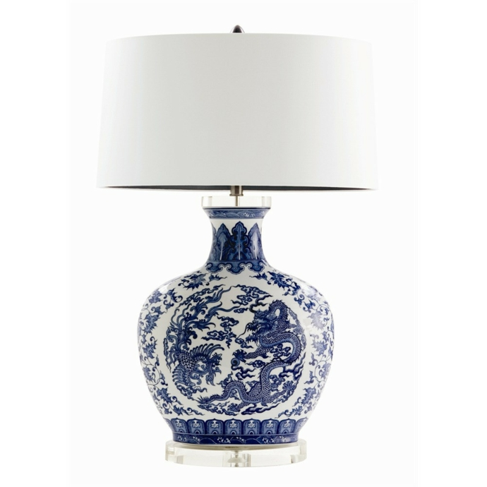 Ethno Muster asiatische Tischleuchte-Orientalische Lampen