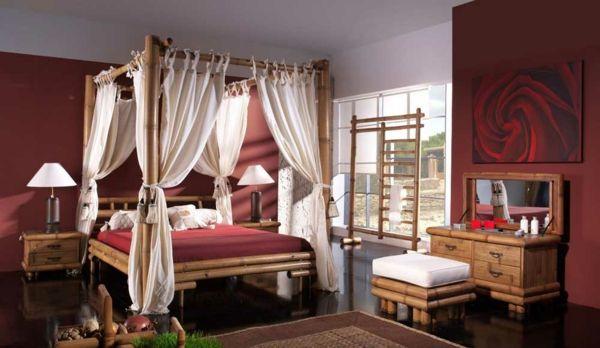 Exotik im Schlafzimmer-Bambus Dekoration