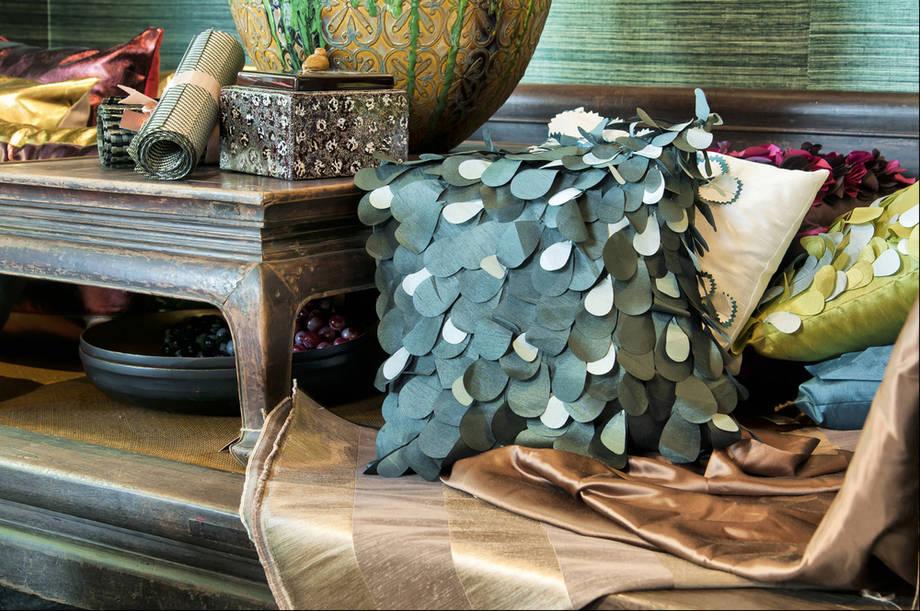 Exotische Einrichtung mit eklektischen Deko Artikeln-Dekoration Einrichtung Wohnzimmer eklektisch