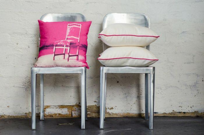 Farbenfrohe Kissen Dekor Ideen-Stuhlkissen