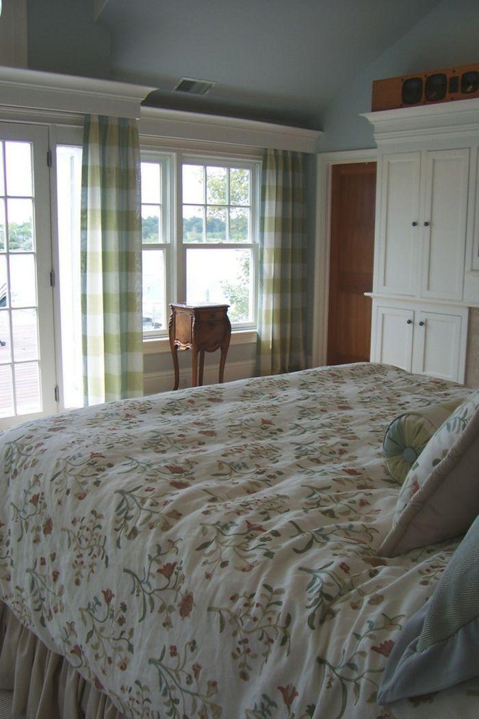 Fensterbehandlung in Weiß Schlafzimmer-dekorative Deckenleisten