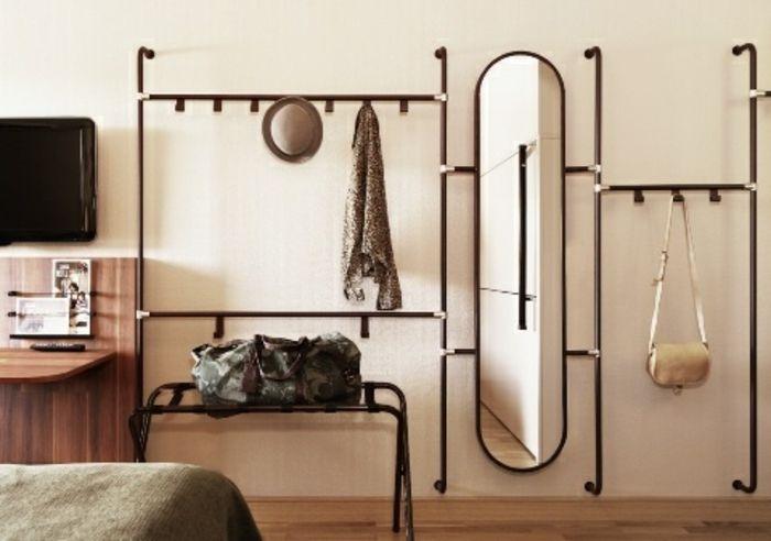 Flur Stauraum Spiegel oval-Dielenmöbel