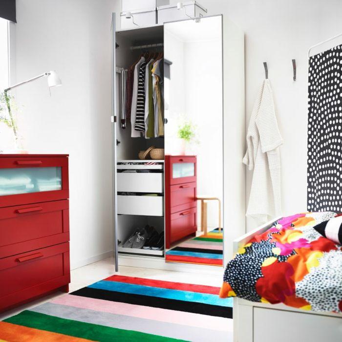 Garderobe mit Spiegeltüren fürs Kinderzimmer-Hochwertige Kleiderschränke für das Schlafzimmer