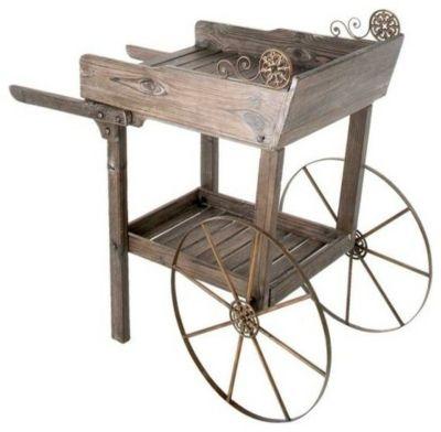 Garten Wagen aus Holz-Gartendekoration