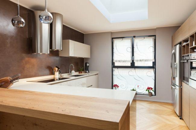 Gemütlicher Küchenbereich nach Feng Shui-Feng Shui Küche Planung Energiefluss Metall Holz