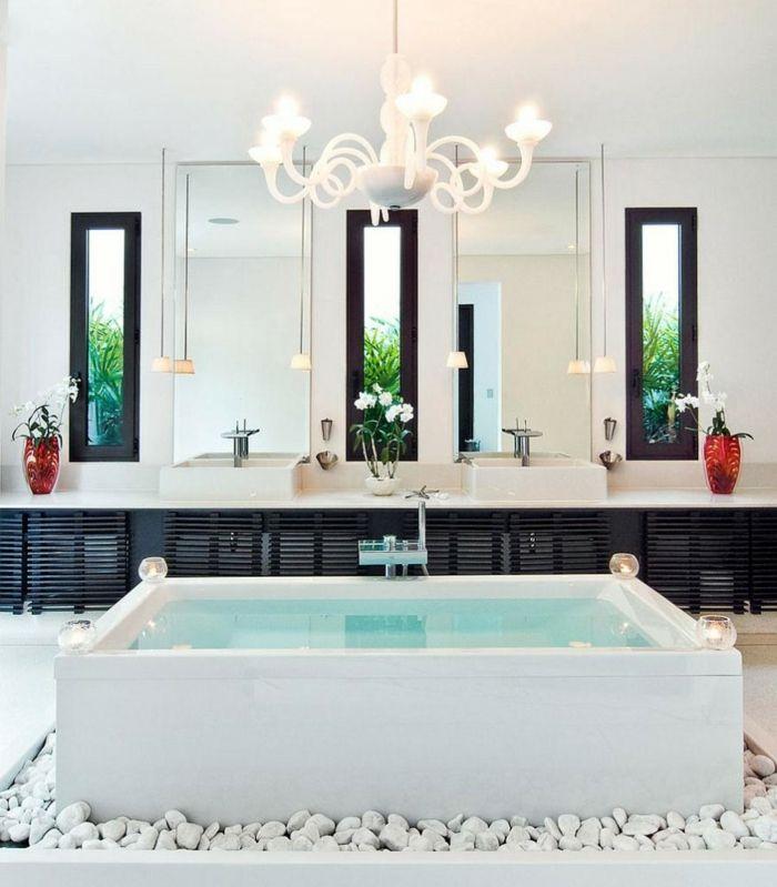 Geräumiges Badezimmer Home spa-freistehende Badewanne