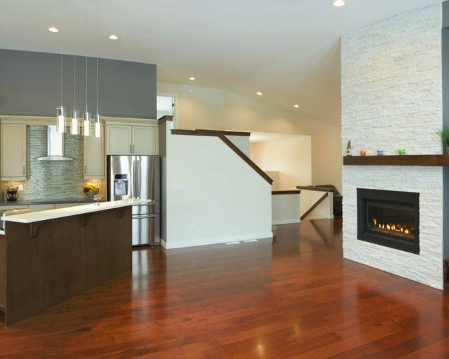 Geräumigkeit und Bewegungsfreiheit sind die Faustregeln-Küche Einrichtung Elemente Metall Holz