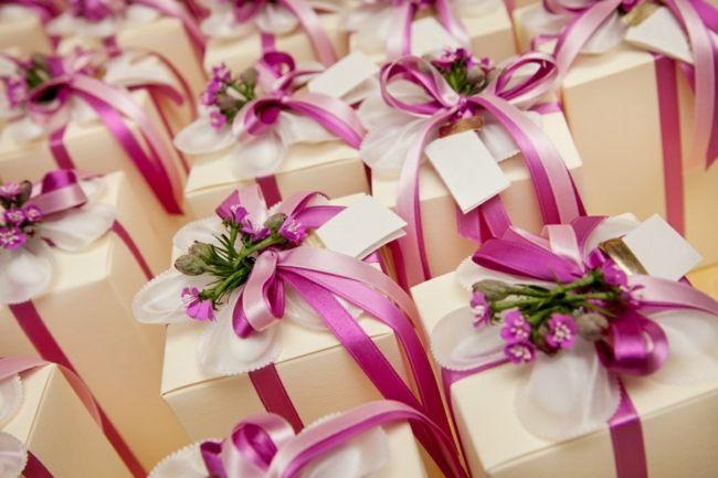 Geschenke für die Gäste-Tischdeko Hochzeit Geschenke Verpackung