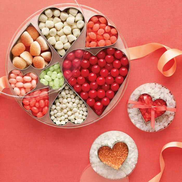 Geschenkidee zum Valentinstag-Nachtische Bastelidee Herzform Valentinstag