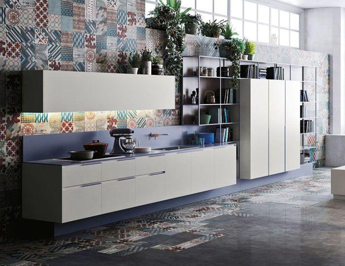 Gestaltung mit dekorativen Bodenfliesen-Tendenzen Küche Neuigkeiten Design Küchenmöbel Bodenfliesen