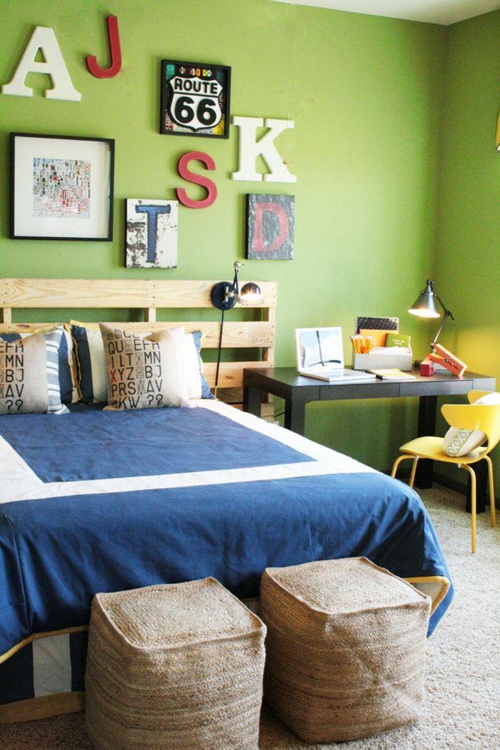 Gestaltungsidee Kinderzimmer-DIY Kopfteil Europalette