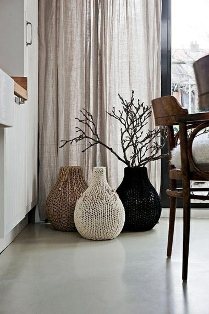 Gestrickte Hüllen-Dekorative Bodenvasen im zeitgenössischem Design