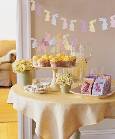 Girlande aus Häschen-Tisch Dekoration Ostern
