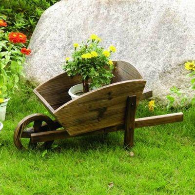 Hölzerner Wagen für Ihren Garten-Garten Dekoartikel