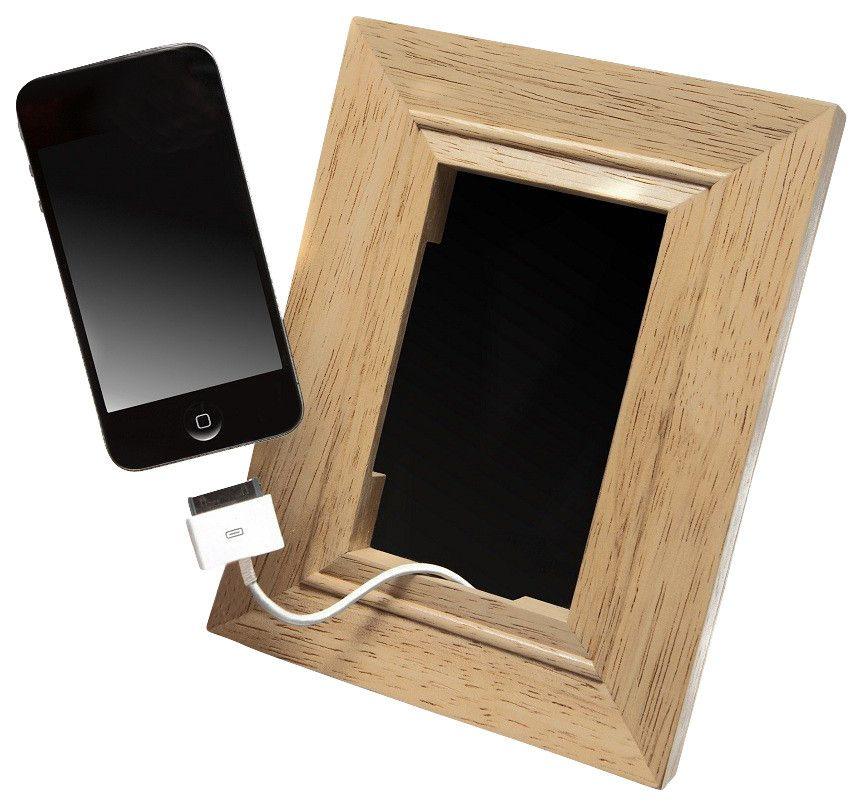 Handy im Bilderrahmen darstellen-Handyständer Bilderrahmen Holz Handysessel Handyhalter Smartphoneständer