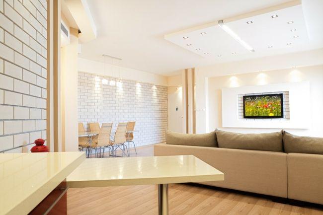 Helle Atmosphäre im Wohnzimmer-Feng Shui Tipps Gestaltung Möbelwahl Farbenwahl