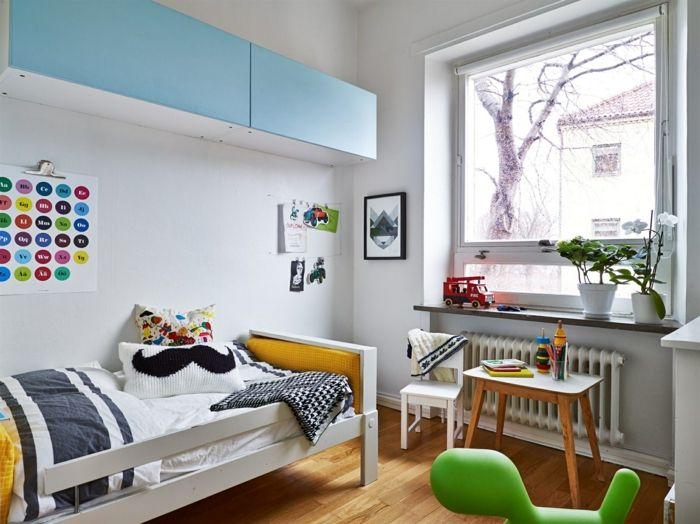 Helle Einrichtung im minimalistischen, skandinavischen Stil-Kinderzimmer Gestaltung