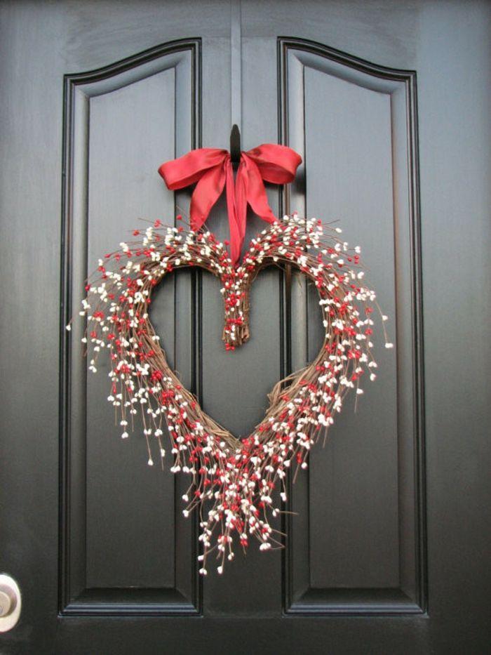 Herz Kranz Geflecht-romantische Einrichtung am Valentinstag