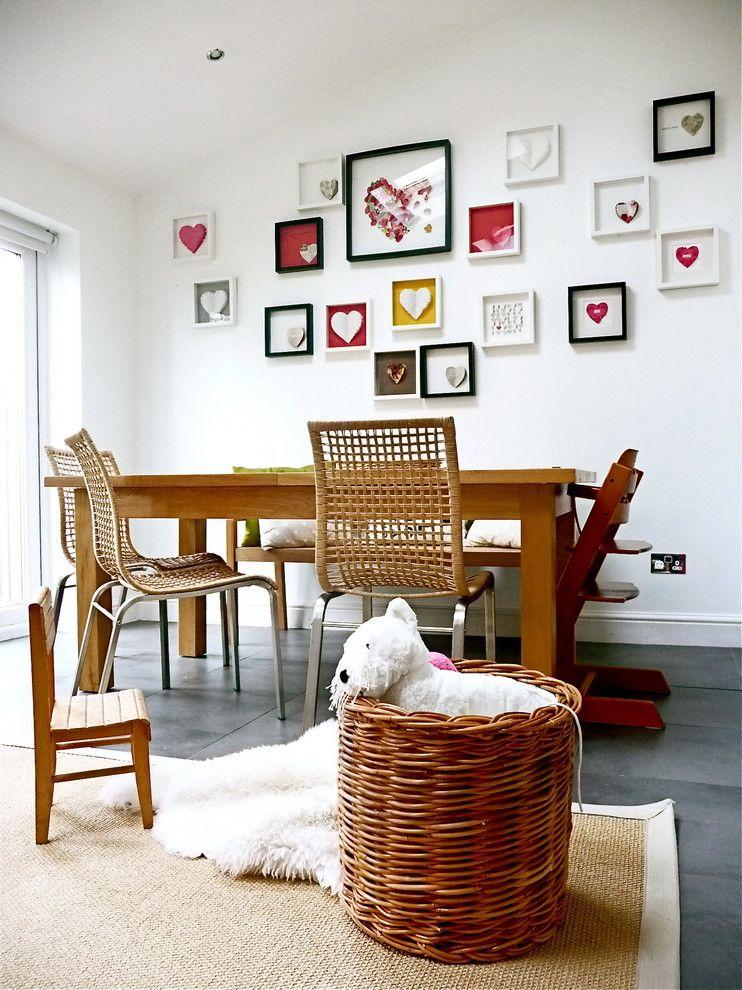 Herzformen in Rahmen-Valentinstag Interieur Dekor