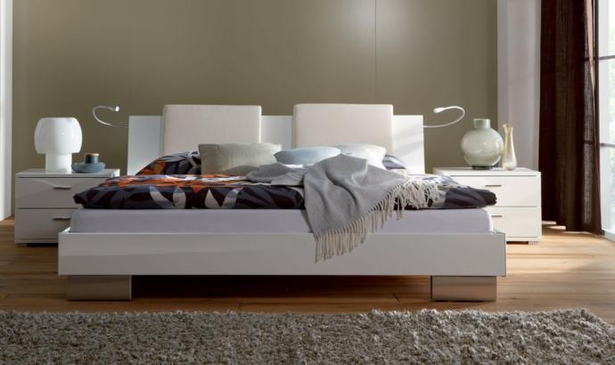 Hochglänzend Designer Bett Weiß-Schlafzimmer Ideen