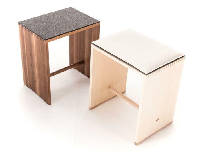 Hocker mit vielseitigen Einsatzmöglichkeiten-Designermöbel Sitzhocker Sitzmöbel Fichtenholz Buchenholz Wohnzimmer