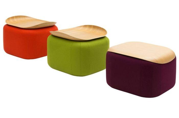 Hocker oder Beistelltisch im skandinavischen Stil-Weicher Fußhocker Sitzplatz Nachttisch marokkanische Kissen Designermöbel Wohnzimmer
