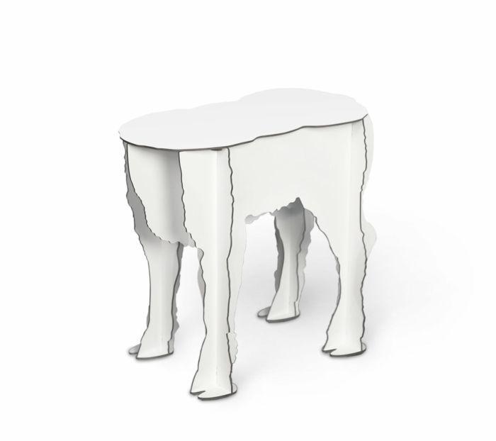 Hocker oder Beistelltisch mit ungewöhnlicher Form-Designermöbel interessant ausgefallen Hocker Beistelltisch Couchtisch