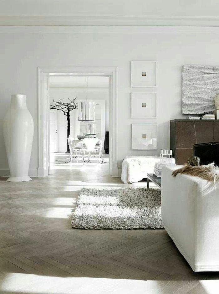 Hohe Bodenvase aus Keramik in Weiß fürs Wohnzimmer-Dekorative Bodenvasen im zeitgenössischem Design
