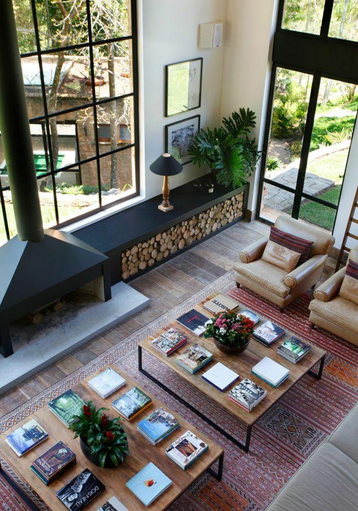 Brennholzregal wohnzimmer design  Moderne Ideen zur schicken Holzaufbewahrung - Trendomat.com