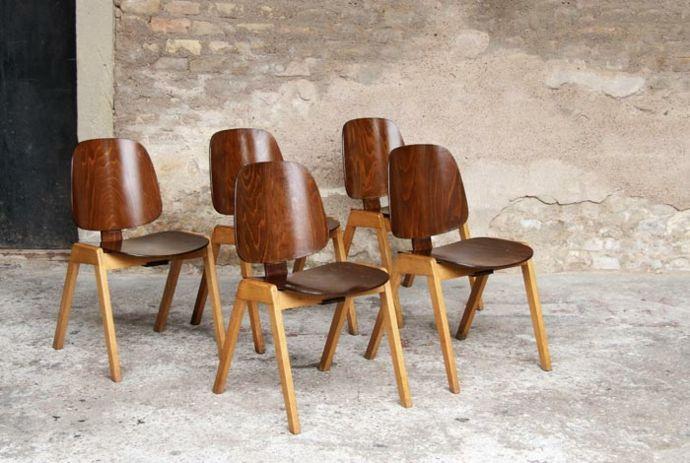 Holzstühle Vintage Retro