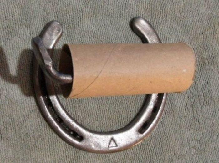Hufeisen Toilettenpapierhalter-Einzigartige Deko Ideen Badezimmer