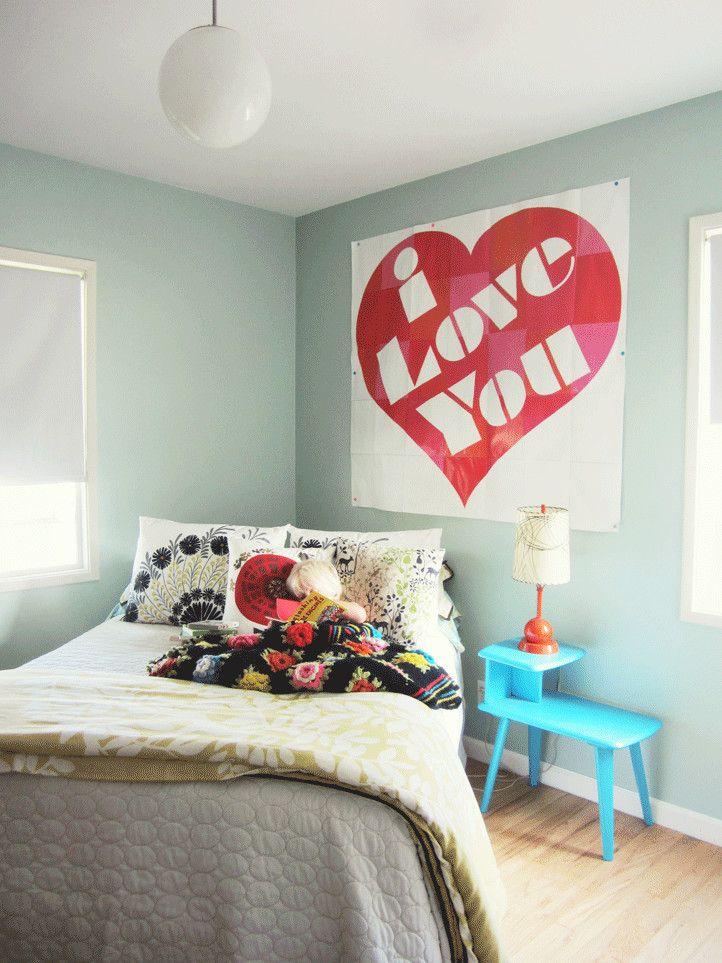Ich liebe dich Poster fürs Schlafzimmer-Valentinstag Interieur Dekor