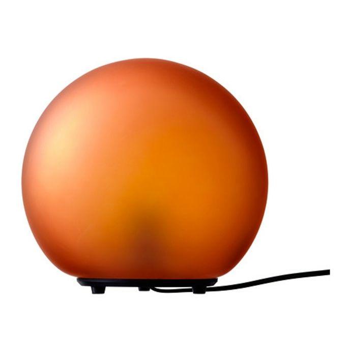 Ikea Fado Leuchtkugel in Orange-Moderne Lampen