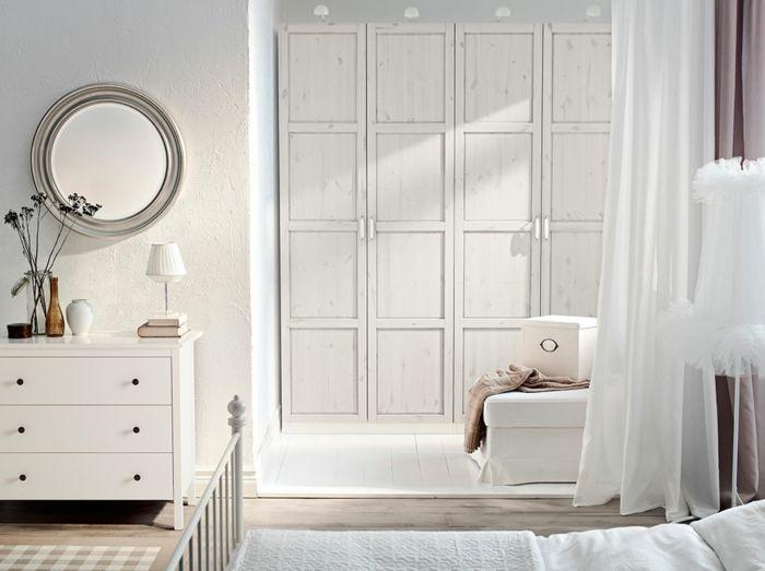 Ikea Garderobe mit Scharniertüren in Weiß-Hochwertige Kleiderschränke für das Schlafzimmer