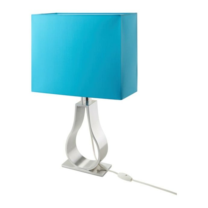 Ikea Klabb Tischleuchte in Türkisblau-Moderne Lampen