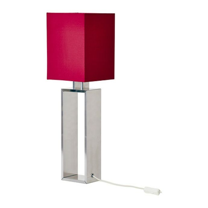 Ikea Torsbo Designerleuchte Tischleuchte in Rot Farbakzent-Moderne Lampen