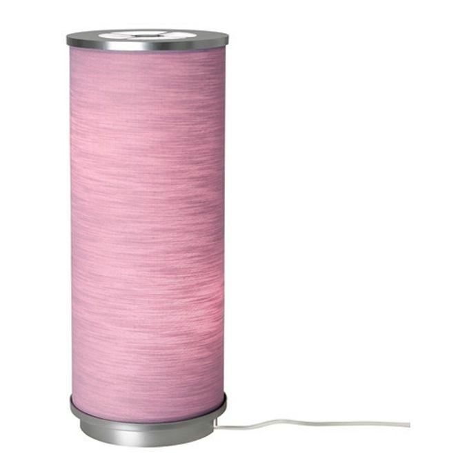Ikea Vidja Tischleuchte mit Stoffschirm in Rosa-Moderne Lampen