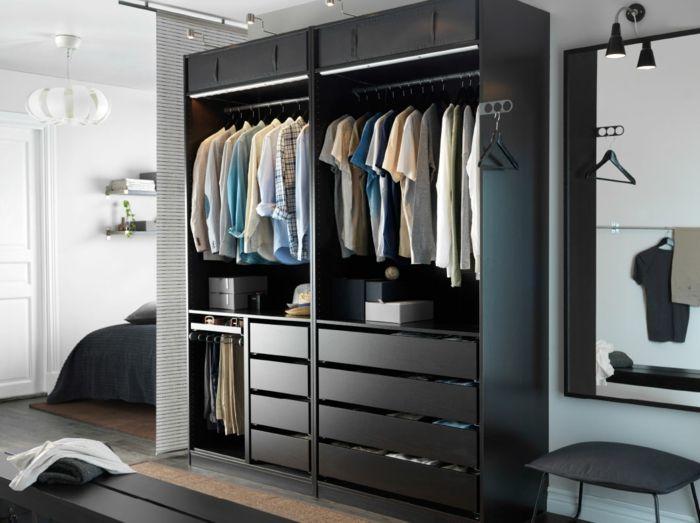 Ikea offene Aufbewahrung Männer Schlafzimmer-Hochwertige Kleiderschränke für das Schlafzimmer