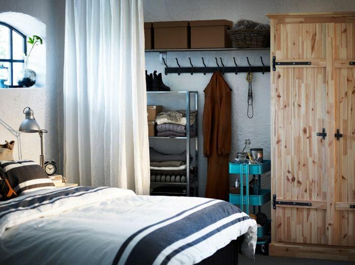 Ikea rustikale Einrichtung Garderobe aus Massivholz-Hochwertige Kleiderschränke für das Schlafzimmer