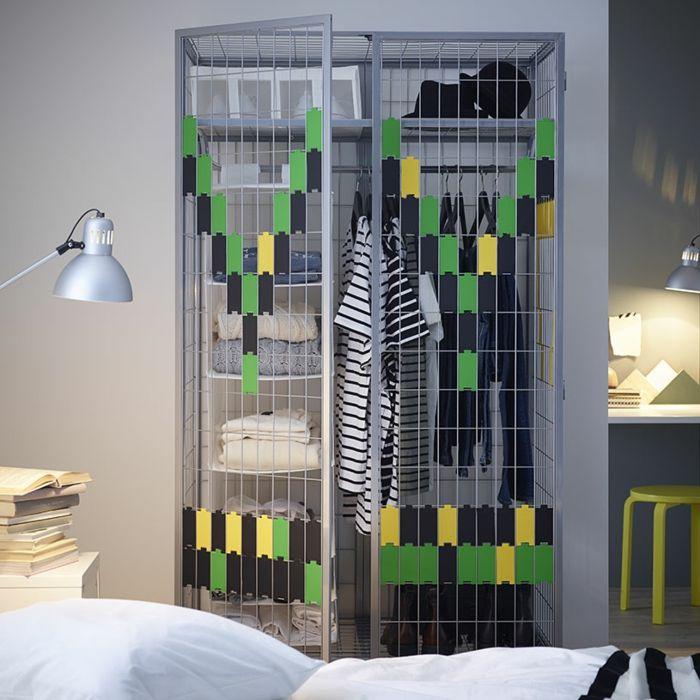 Ikea silberfarbene Garderobe-Hochwertige Kleiderschränke für das Schlafzimmer